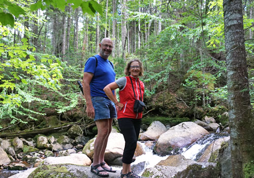 Karen und Werner im Nationalpark Jacques Cartier
