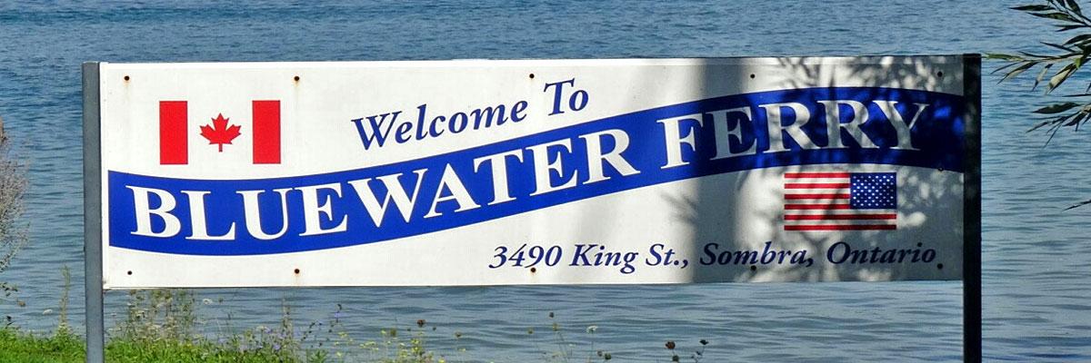 Bluewater Ferry Grenzuebergang Kanada - USA
