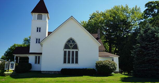 Eine Kirche im Staate Michigan