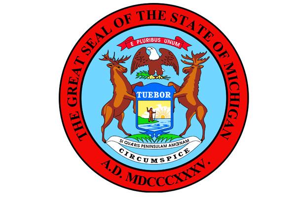 Wappen vom Bundesstaat Michigan