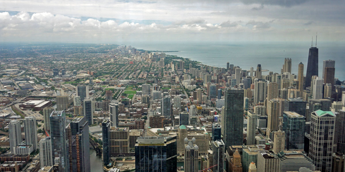 Willis Tower - Chicago aus der Vogelperspektive