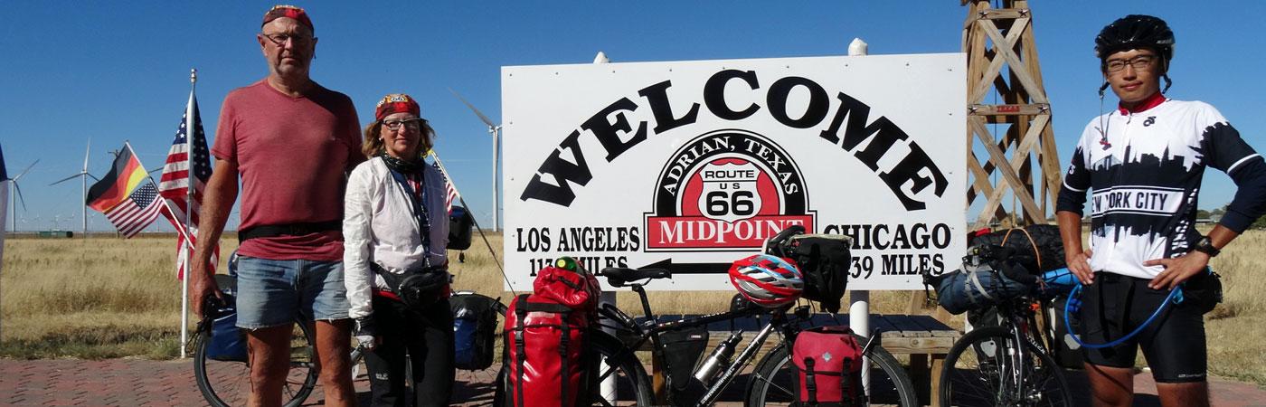 Karen Wichert und Werner Wilkens in ihrem einjährigen Sabbatical mit dem Rad auf der Route 66